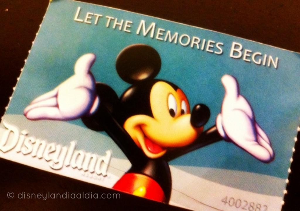 Boletos para Disneylandia