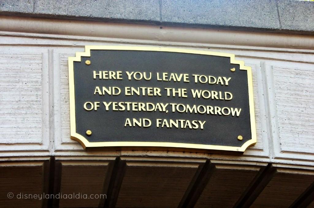 Letrero en Disneylandia