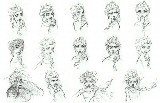 Dibujos de Elsa