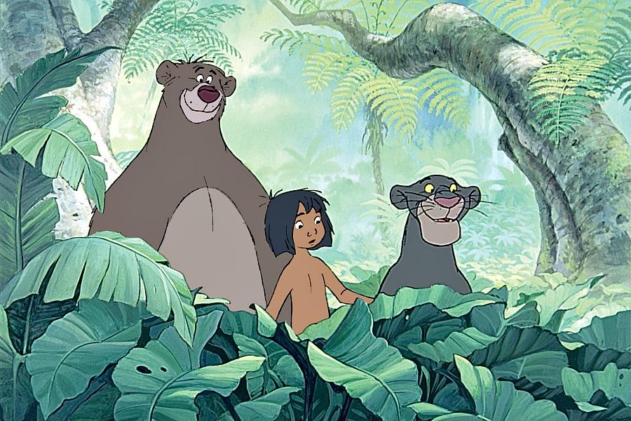 Baloo, Mowgli y Bagheera - old.disneylandiaaldia.com