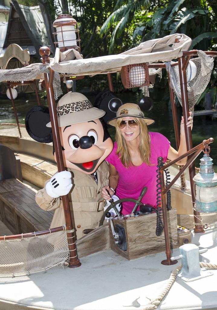 Heidi Klum en Disneylandia- DisneylandiaalDia.com