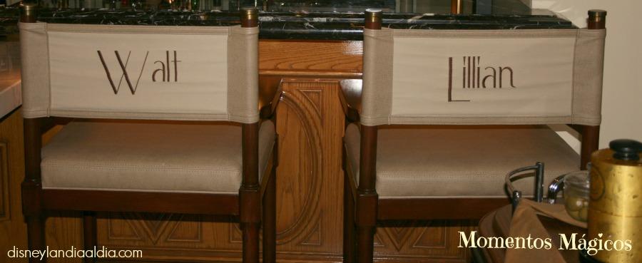 Las sillas de Walt y Lillian