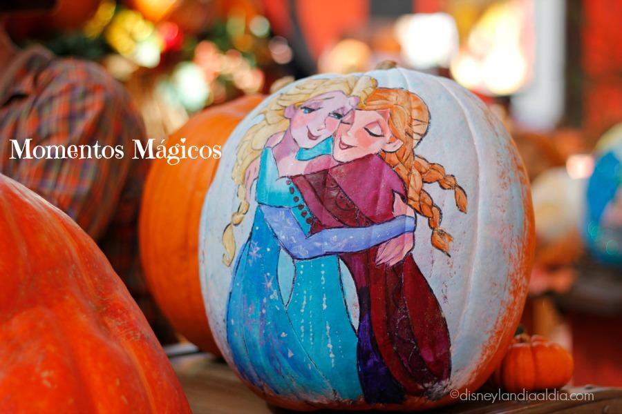 Calabaza de Frozen en Disneylandia 2014
