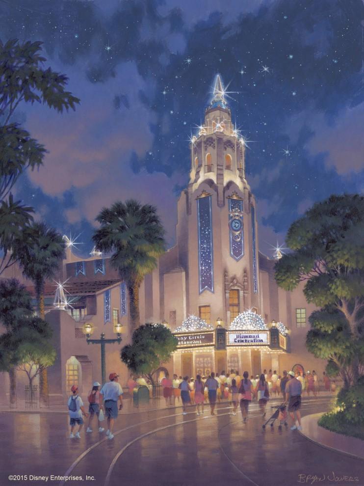Carthay Circle Theatre en  Disney California Adventure. Disneylandia Aniversario.