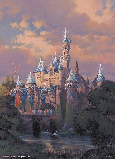 Castillo de la Bella Durmiente en Disneylandia. 60 aniversario