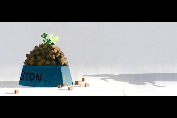 Vista preliminar de la animación del corto Festín
