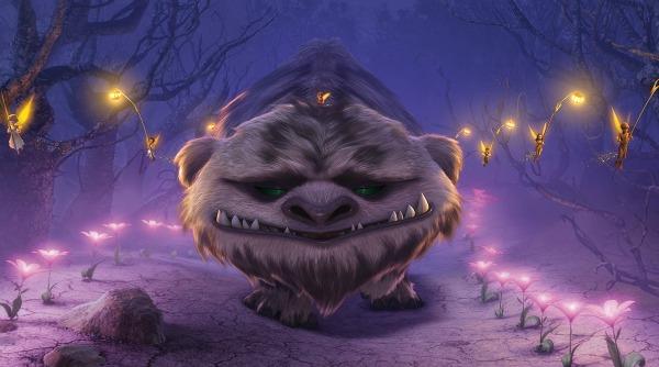 Gruff, la Bestia de Nunca Jamás caminando de vuelta a casa