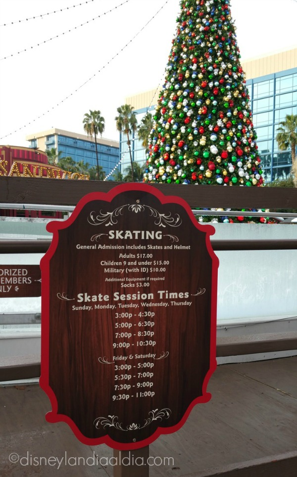 Horarios y precios de la pista de patinaje de Olaf en Disneylandia