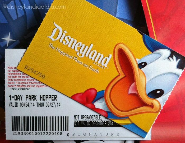 Tipos de Boletos para Disneylandia