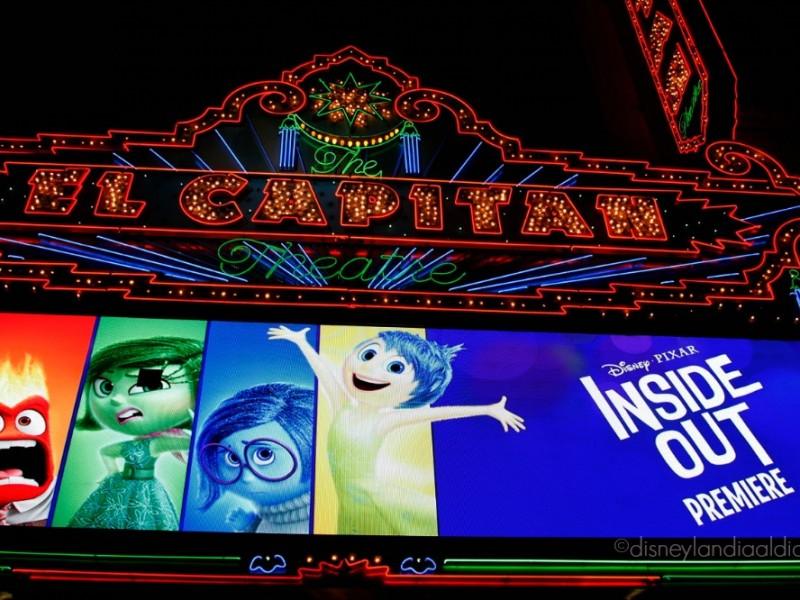 El capitan theater la noche del estreno de Intensa Mente en Hollywood - disneylandiaaldia.com