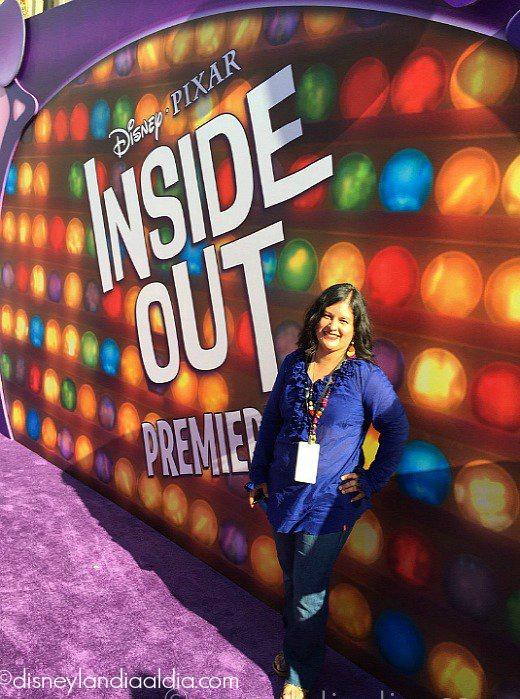 Silvia de old.disneylandiaaldia.com en la premier de Inside Out en Hollywood