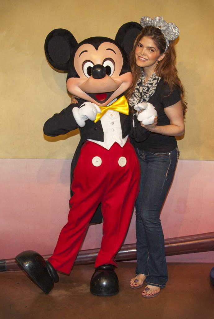 Ana Bárbara en Disneylandia