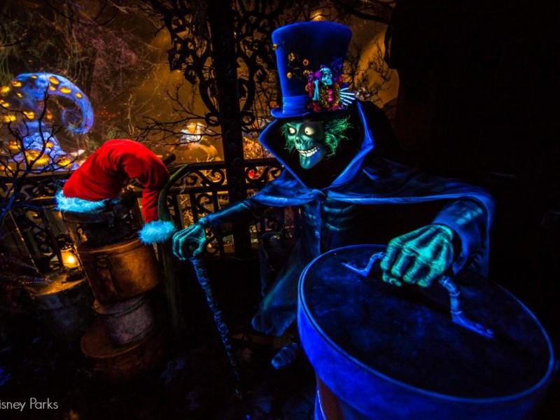 Hatbox Ghost en la Mansión Encantada en Disneylandia