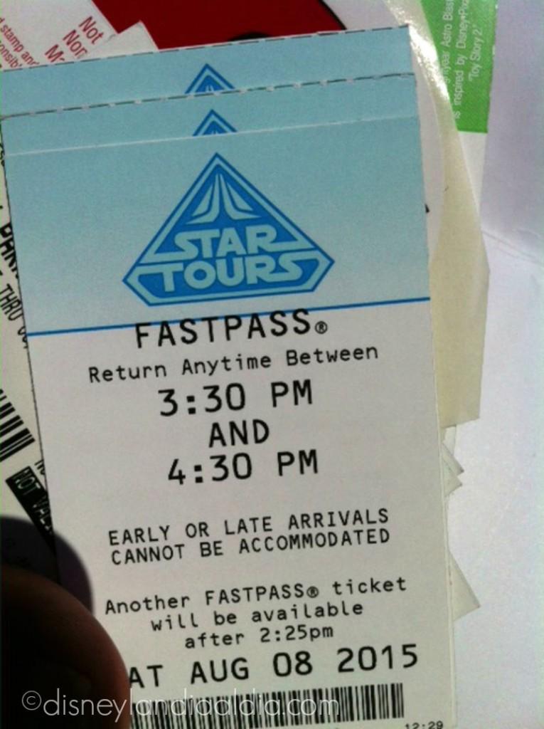 Fastpass de Star Tours by old.disneylandiaaldia.com