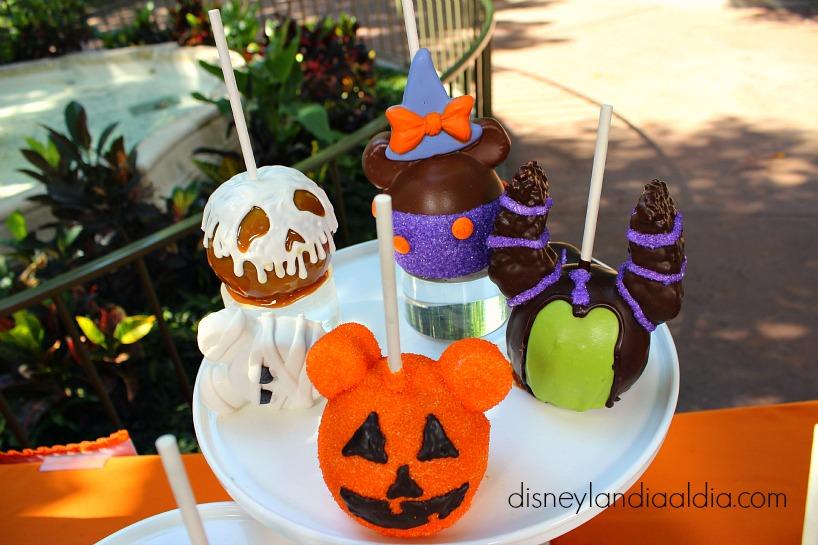 Manzanas y golosinas de Halloween en Disneylandia - old.disneylandiaaldia.com