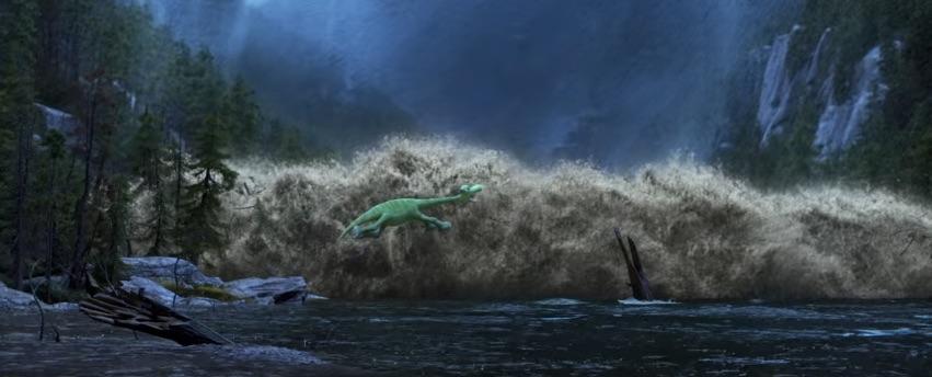 El río y Arlo en Un Gran Dinosaurio - disneylandiaaldia.com