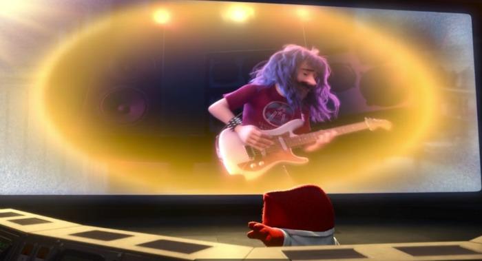 papa de Riley tocando la guitarra en ¿La Primera Cita de Riley? - disneylandiaaldia.com
