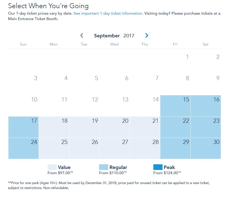 ¿Qué significan las tarifas Value, Regular y Peak Days?