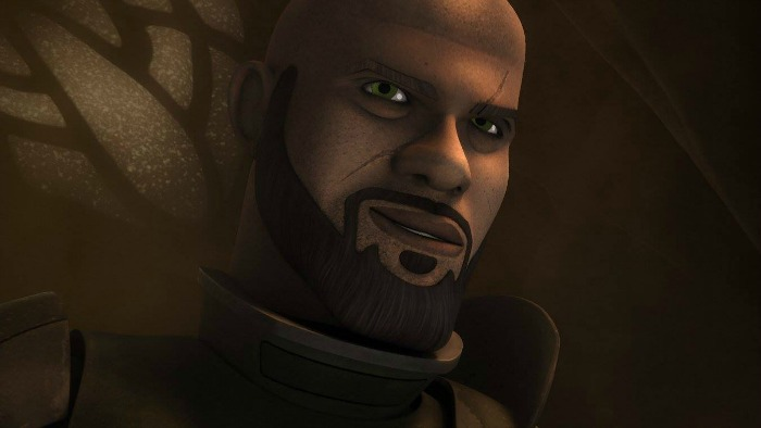 Saw Guerrera, animado en Star Wars Rebels - disneylandiaaldia.com