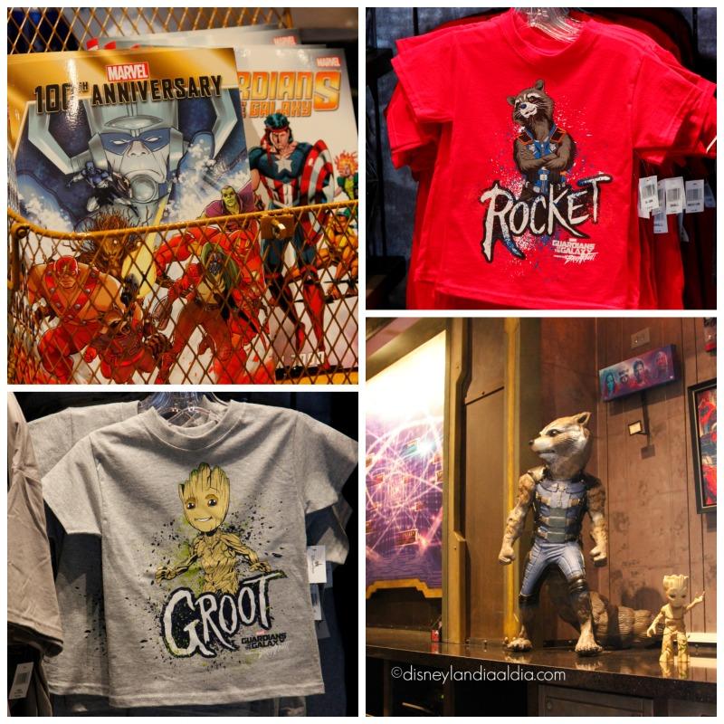 Playeras de Rocket y Groot - disneylandiaaldia.com