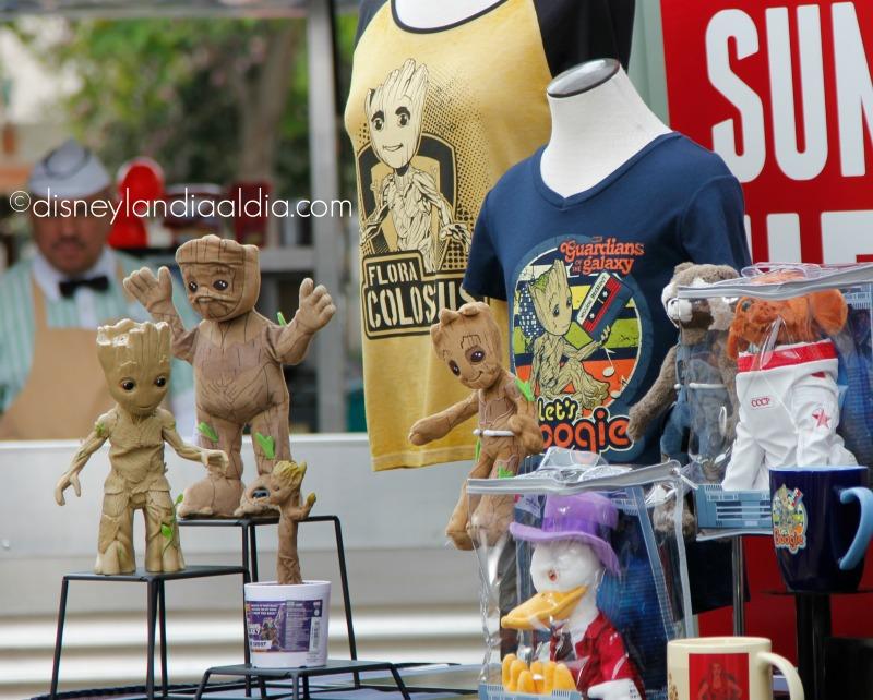 Muñecos de peluche de Groot y otros productos de los Guardianes de la Galaxia