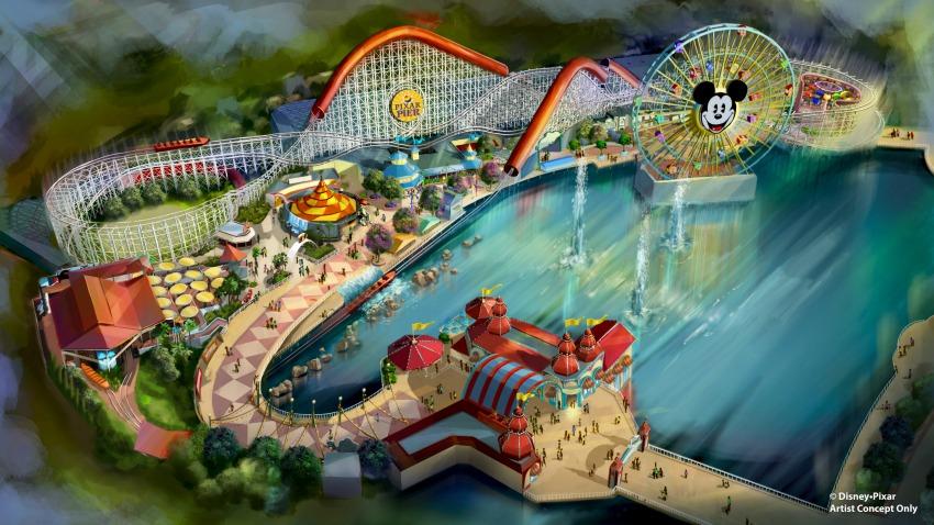 Vista preliminar de como lucirá Pixar Pier - disneylandiaaldia.com