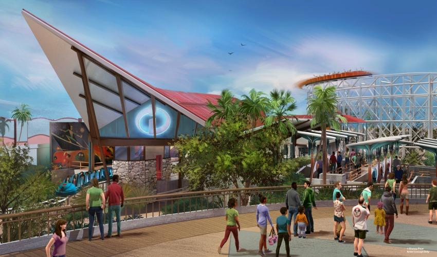 Nueva Montaña Rusa Inspirada en The Incredibles Llega a Pixar Pier