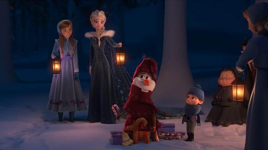 Escena de una aventura congelada de Olaf - disneylandiaaldia.com