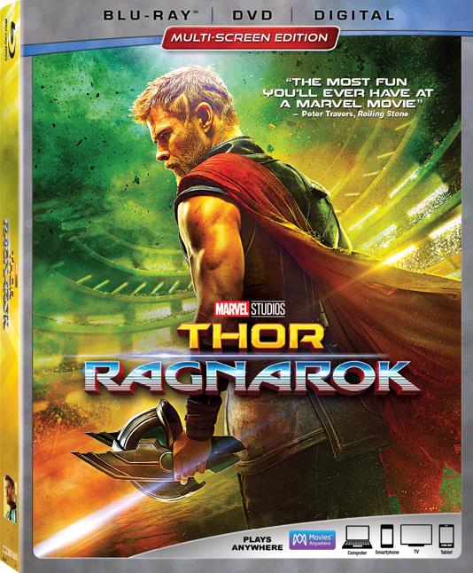 Blu-ray de Thor Ragnarok