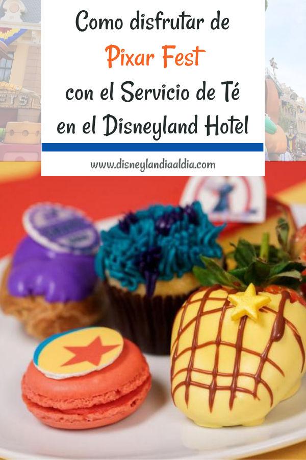 Postres inspirados en Pixar para el servicio de té en el Disneyland Resort
