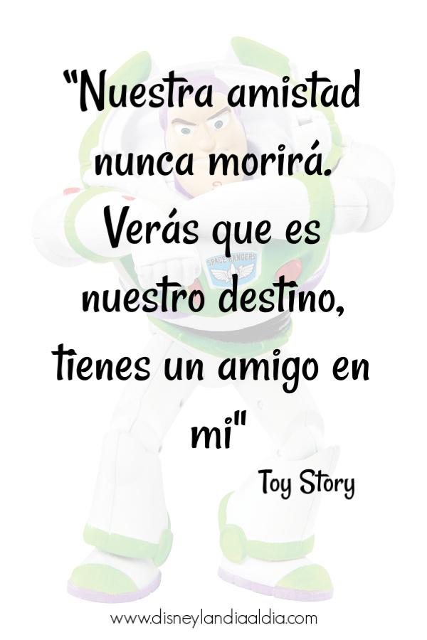 Frase de amistad de Toy Story y Woody