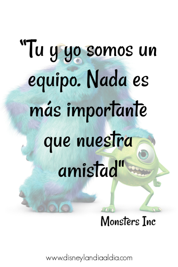 Frase de amistad de Monsters Inc
