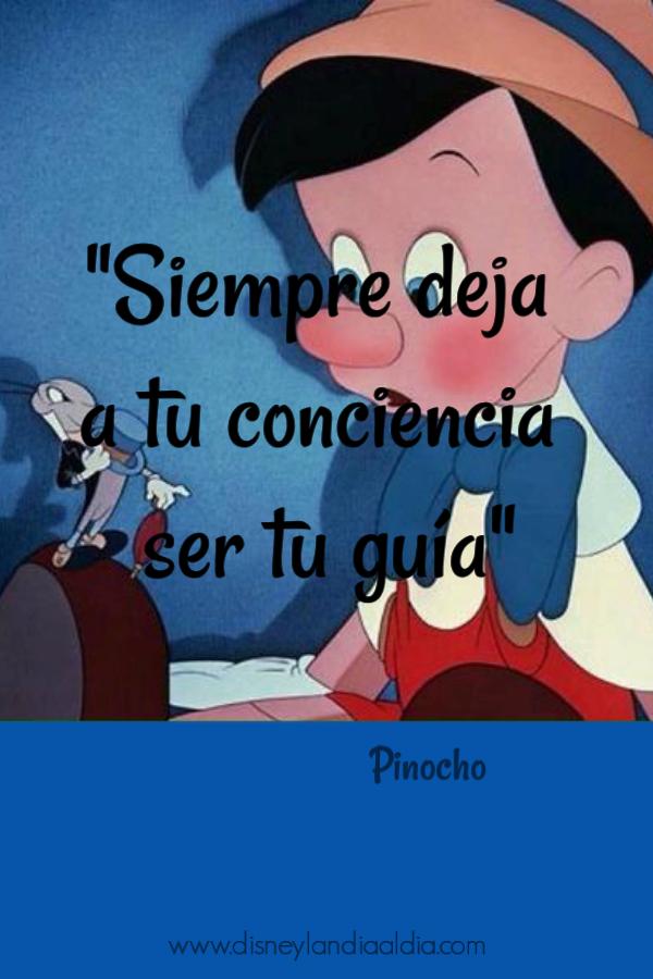 Frase de amistad de Pinocho y su conciencia
