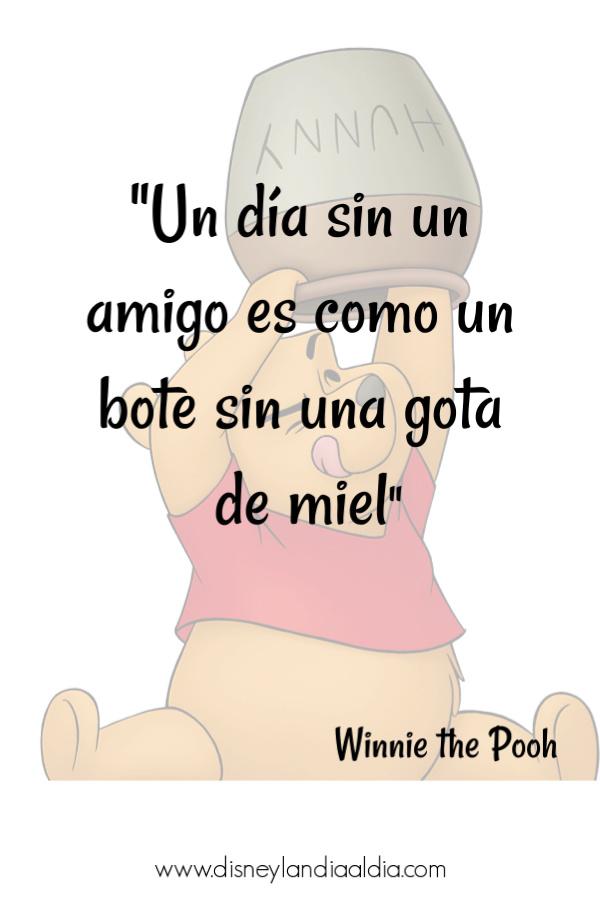 Frase de amistad de Winnie the Pooh