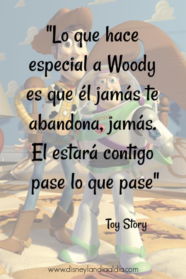 Frase de amistad de Toy Story