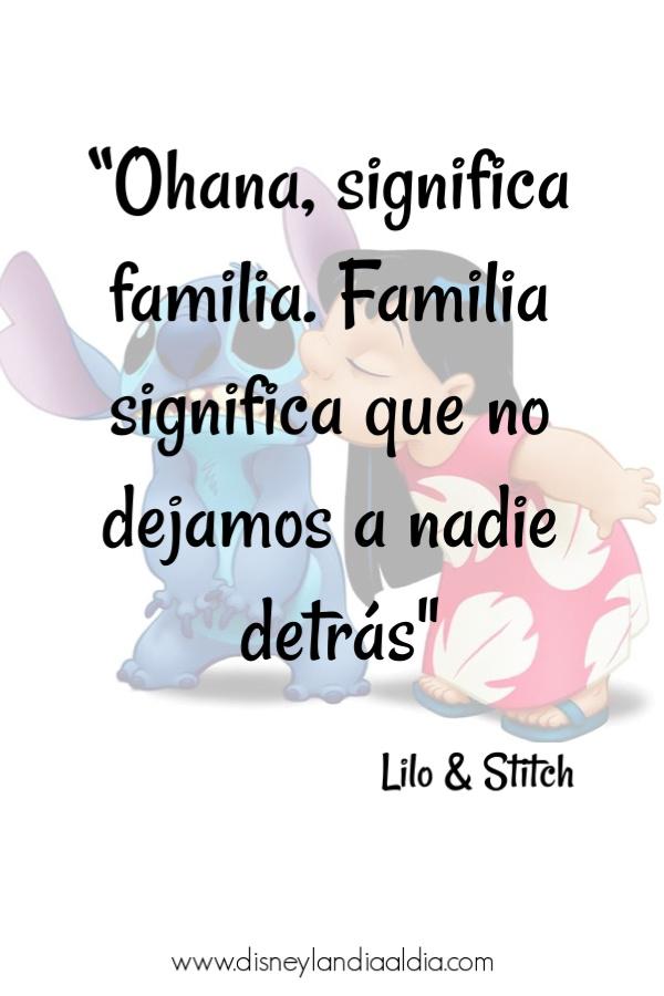 Frase Ohana significa familia
