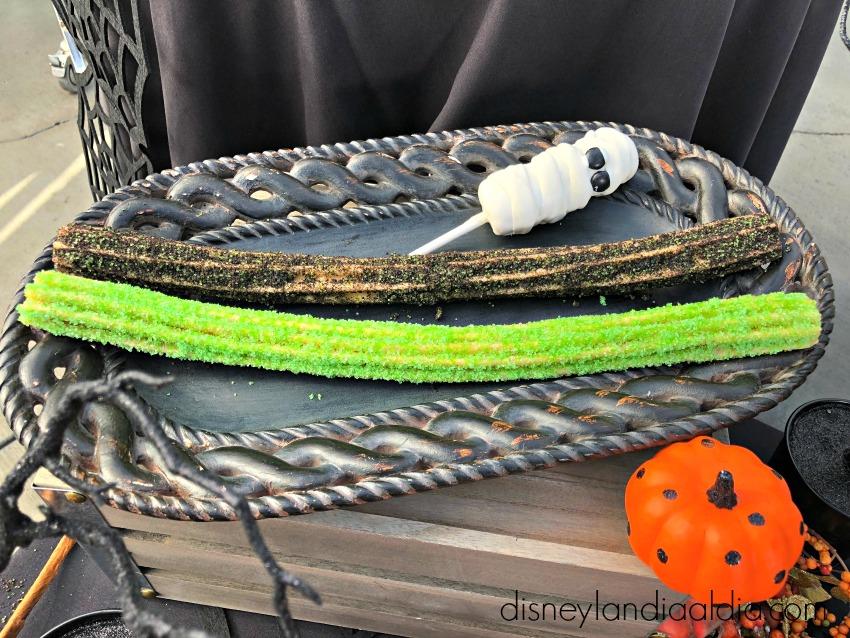 churros negros y verdes halloween