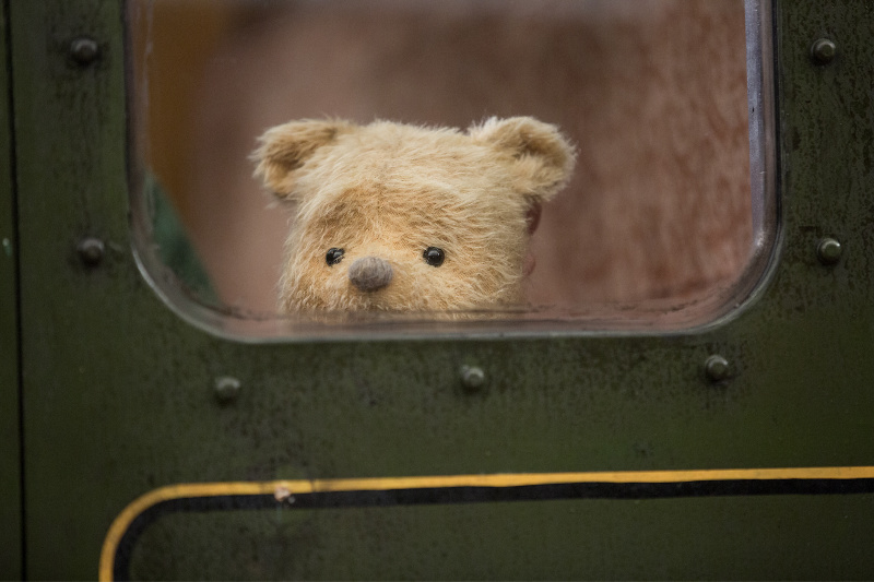Winnie the Pooh en el tren