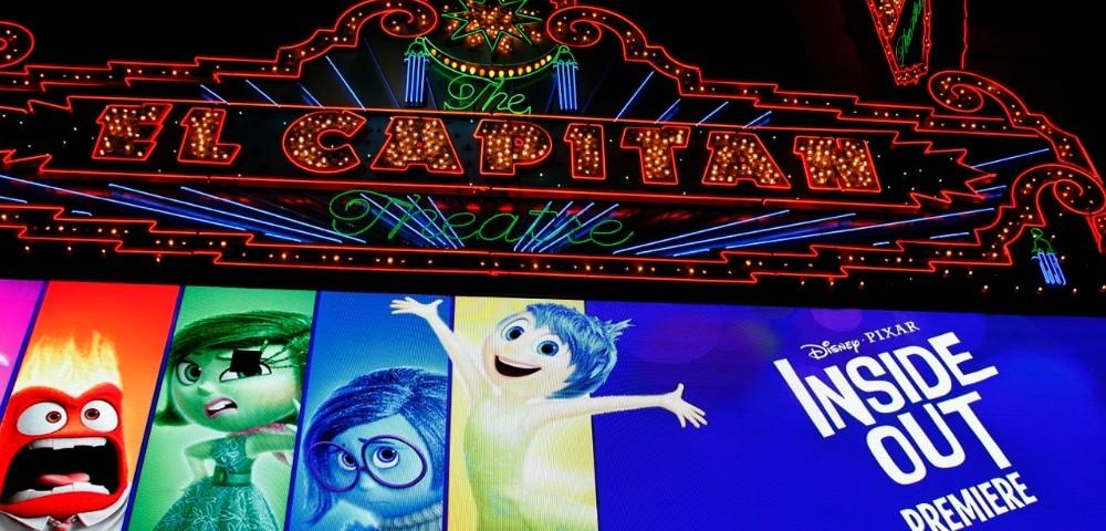 El capitan theater la noche del estreno de Intensa Mente en Hollywood - old.disneylandiaaldia.com