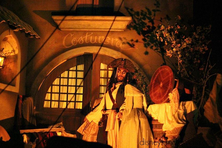 Jack Sparrow en piratas del caribe