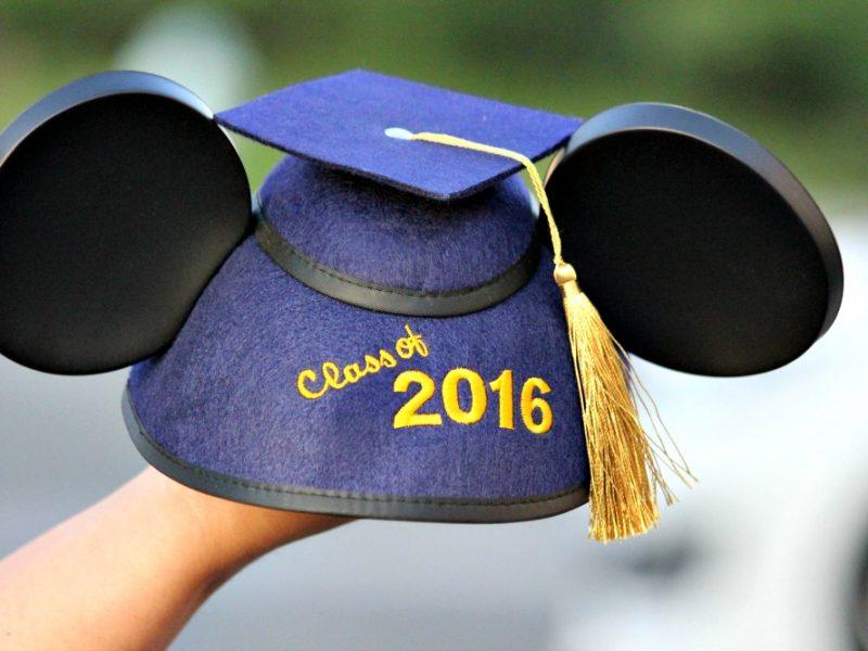 gorro de mickey para graduacion