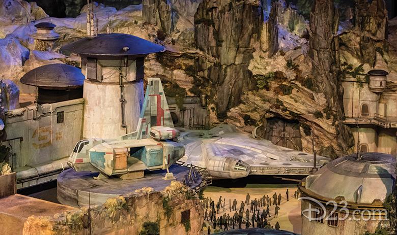 Maqueta del Mundo de Star Wars en Disneylandia