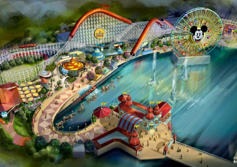 Los 4 vecindarios de Pixar Pier - disneylandiaaldia.com