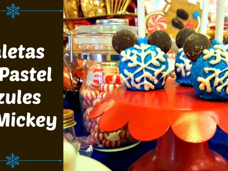 Decora paletas de pastel azules de Mickey - disneylandiaaldia.com