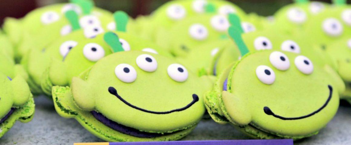 Macaron de alien inspirado en Toy Story