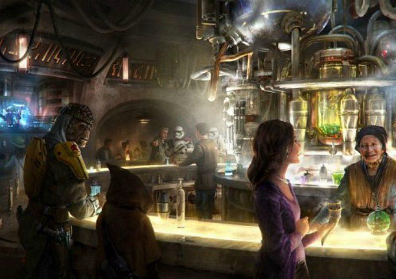 Poster creativo de la Cantina de Oga que llega al Mundo de Star Wars en Disneylandia