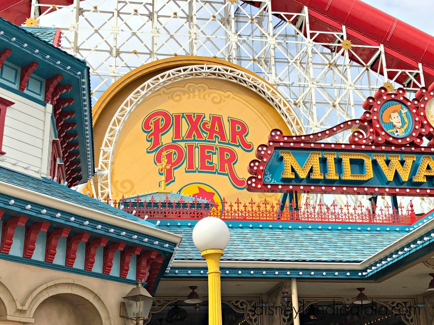 Pixar Pier en Disney California Adventure