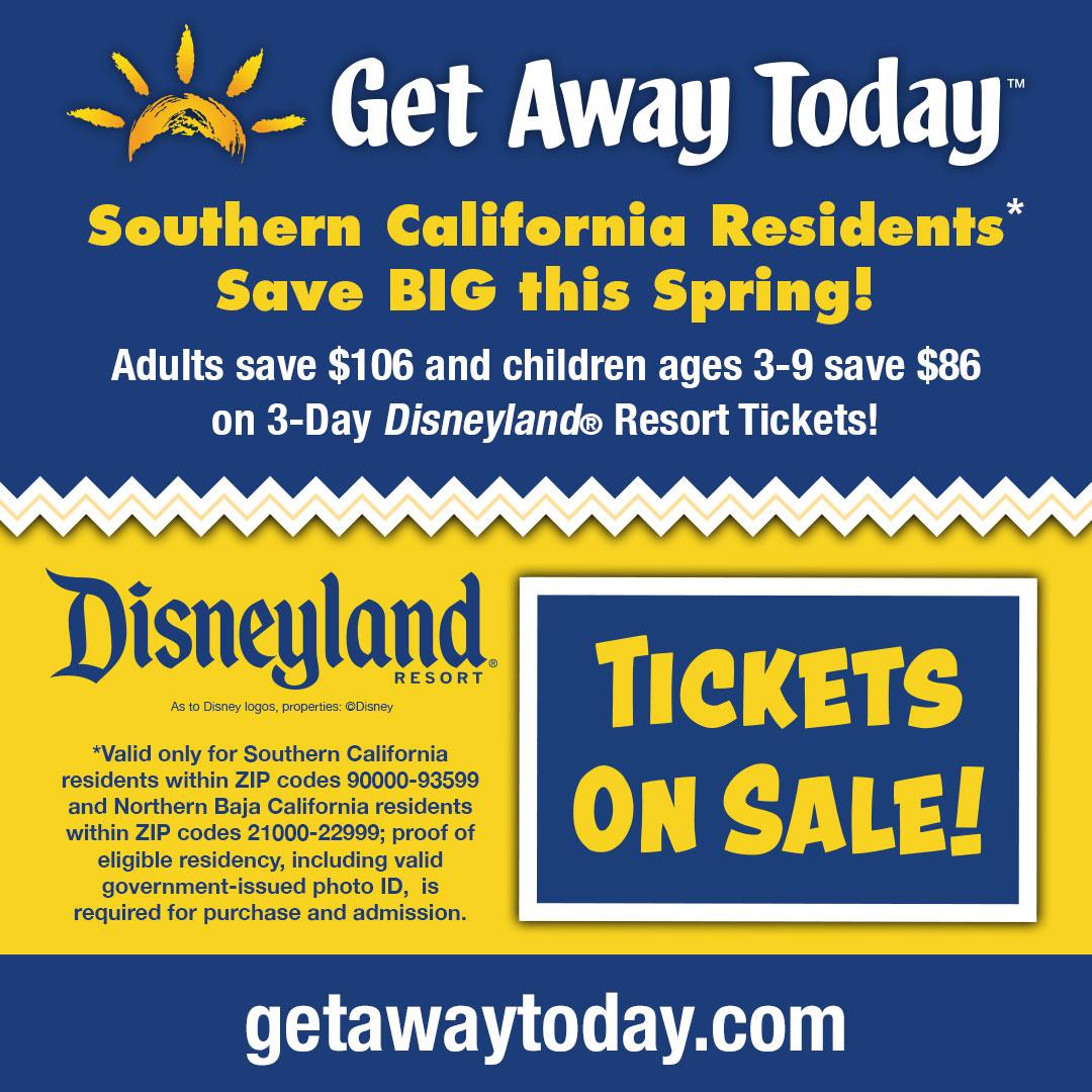 Oferta en Boletos de 3 días para Residentes del Sur de California 2020